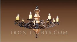 capri_wood_iron_chandelier