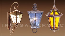 Outdoor iron lights fixtures