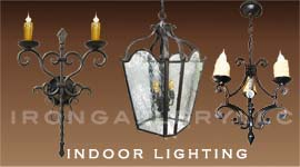 indoor wrought iron lighting