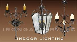 indoor wrought iron lighting