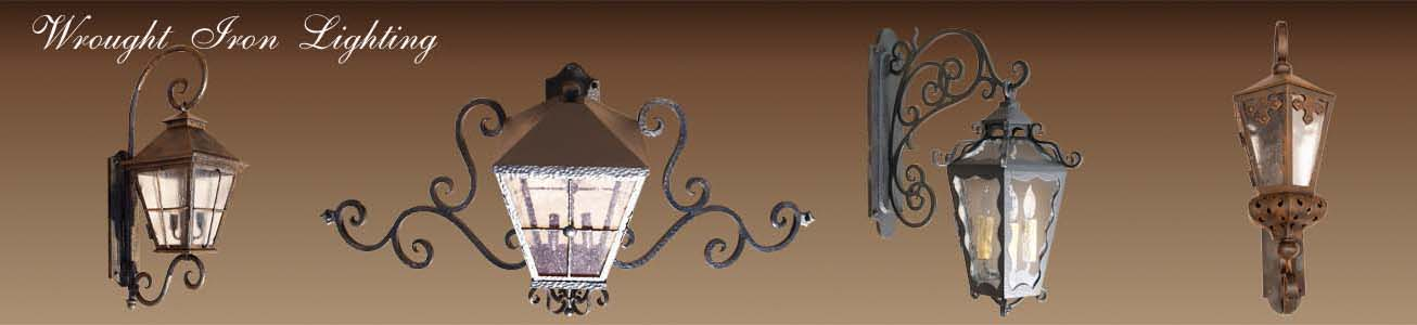 Wrought iron lighting