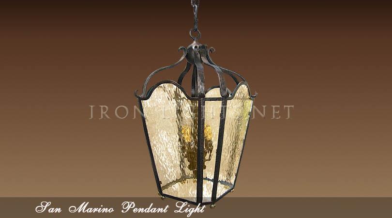 Wrought Iron Foyer Lighting : Wrought iron foyer pendant indoor pendants