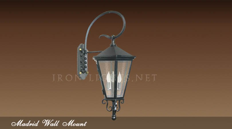 iron outdoor spanish lighting
