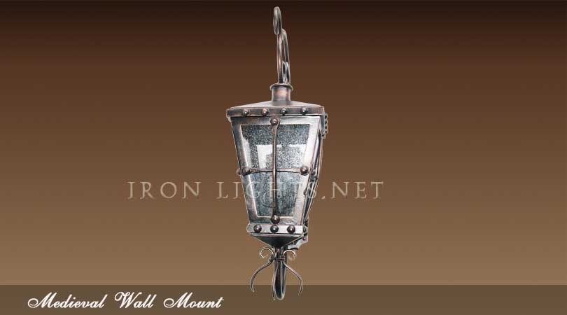 Wrought iron medieval lighting