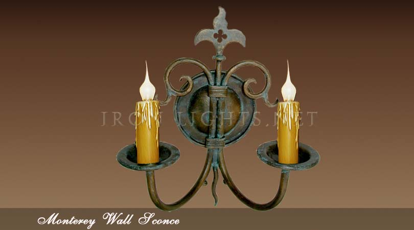 Mediterranean indoor wall sconces