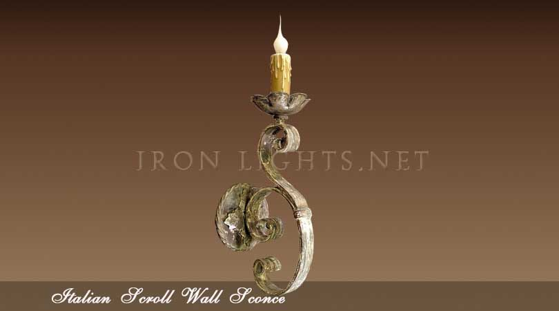 wrought iron wall sconces