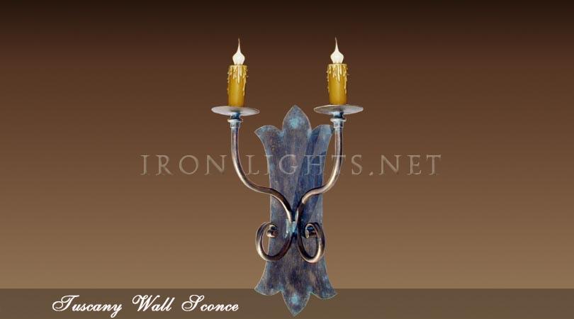 Tuscany iron sconce