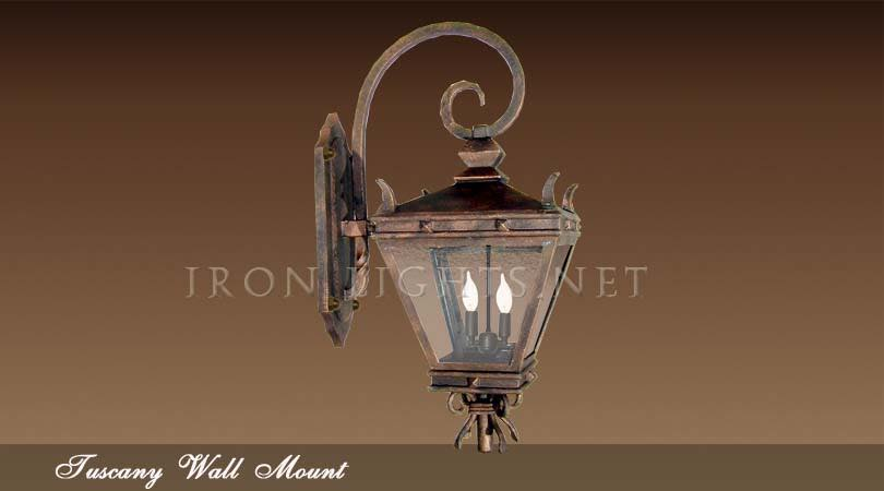 Rustic wrought iron lighting