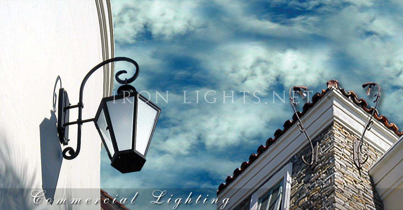 Architectural iron lighting