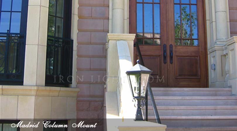 Madrid wrought iron outdoor lighting