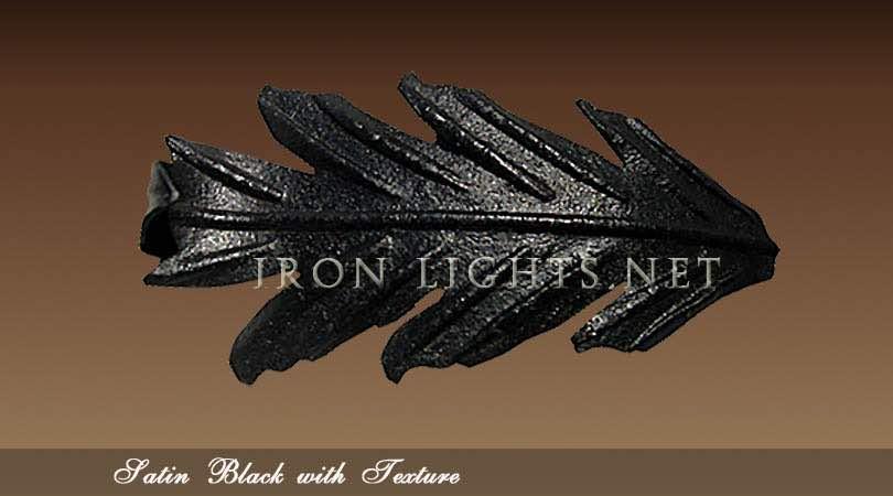 Wrought iron Satin Black