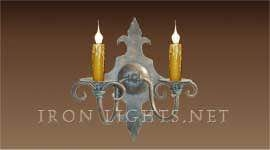 french_mediterranean_iron_wall sconces_normandy