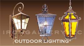 wrought iron light fixtures