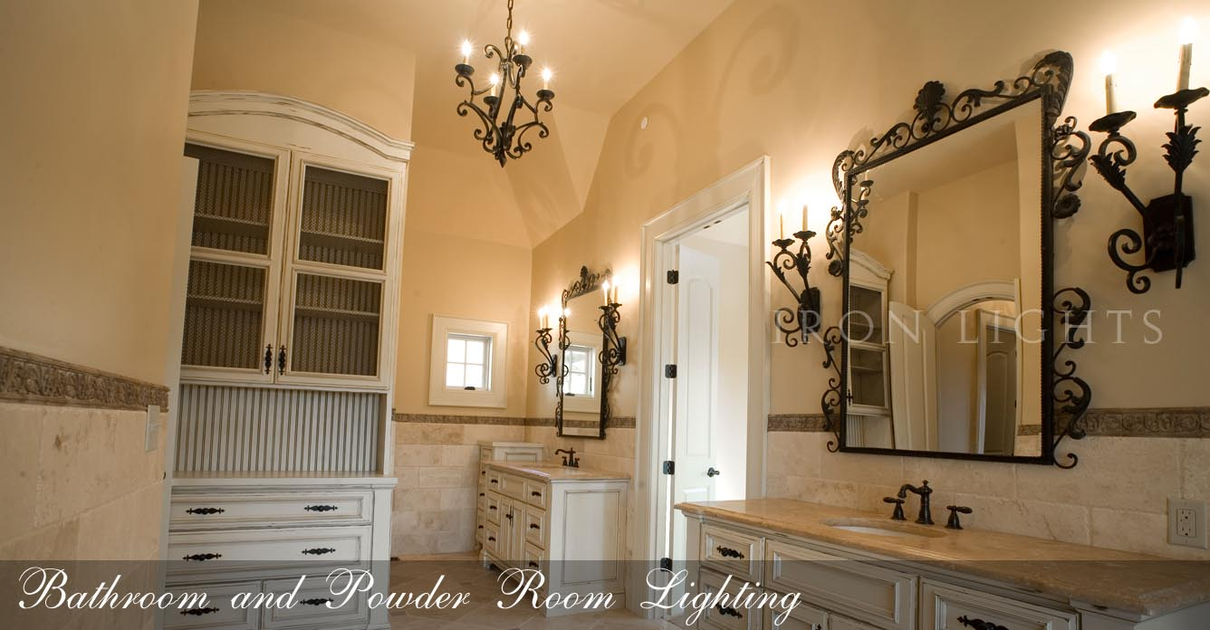 Wrought Iron Bathroom lighting