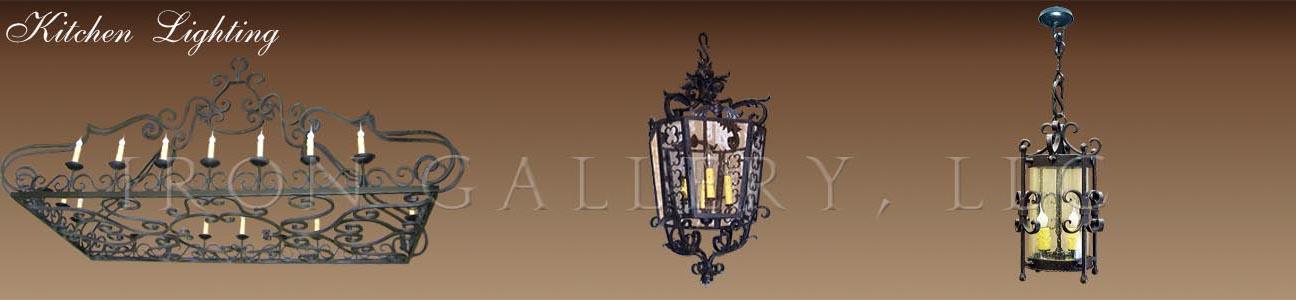 Wrought iron kitchen lighting