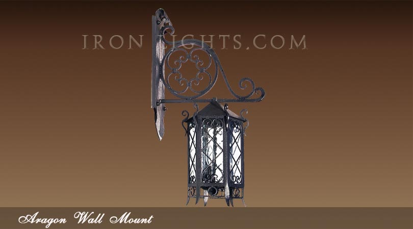 Hacienda wall mount light fixture
