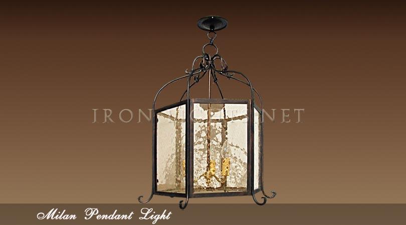Foyer Lighting Wrought Iron : Wrought iron pendant lights indoor milan foyer