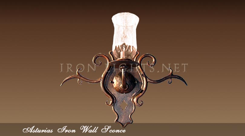Asturias wrought iron wall sconce