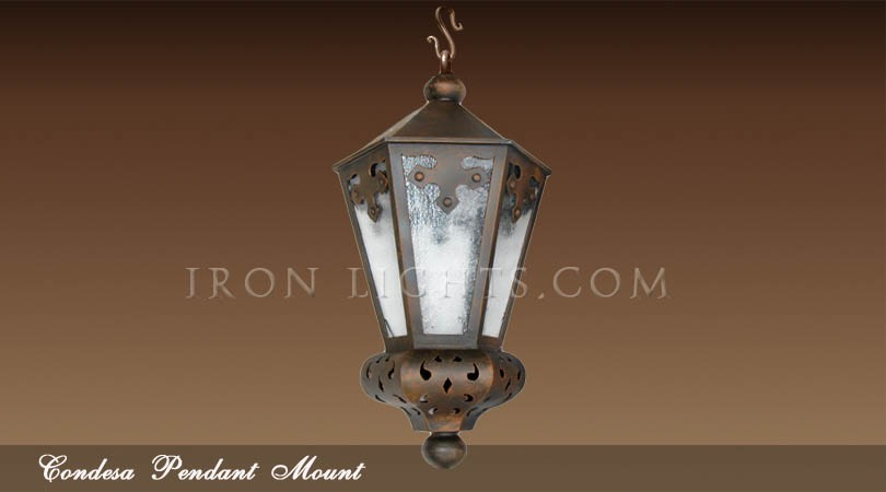 Marquesa outdoor iron pendant light