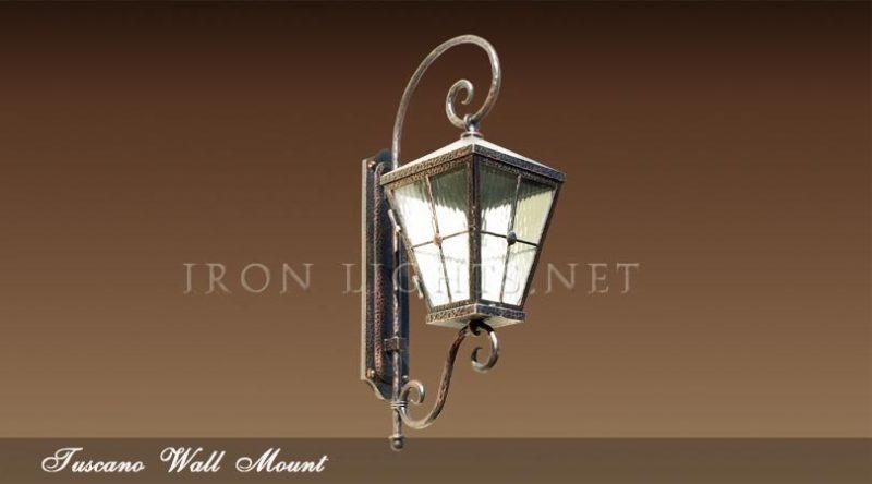 Mediterranean iron lighting