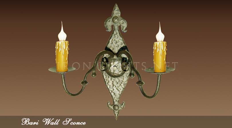 french mediterranean indoor wall sconces