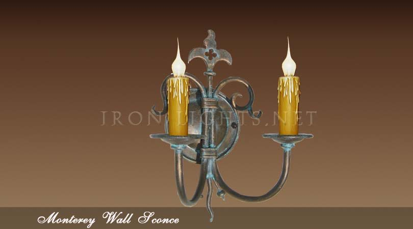 French Mediterranean indoor wall sconce