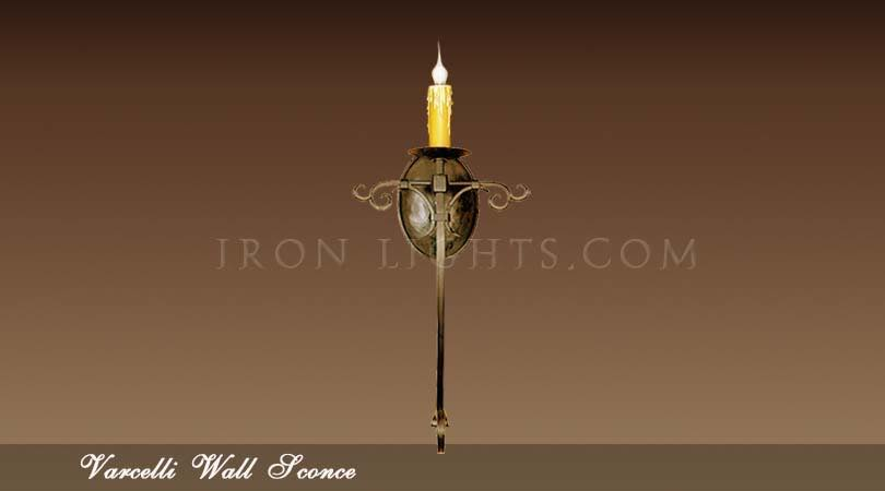 Varcelli iron wall sconce
