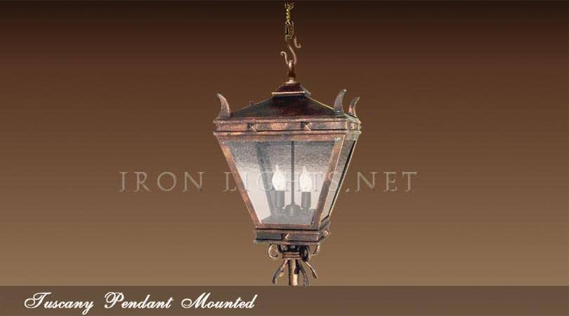 Rustic iron pendant lights