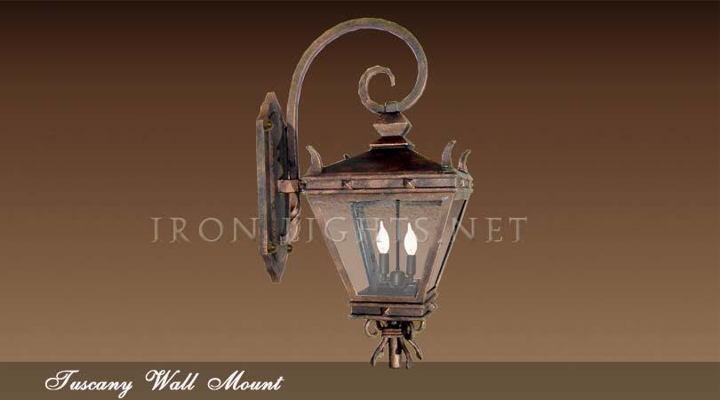 Rustic wrought iron lighting