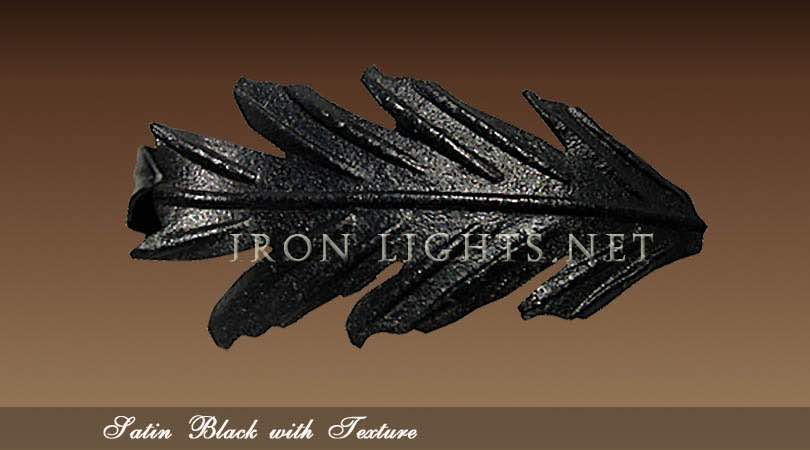 Wrought iron Satin Black