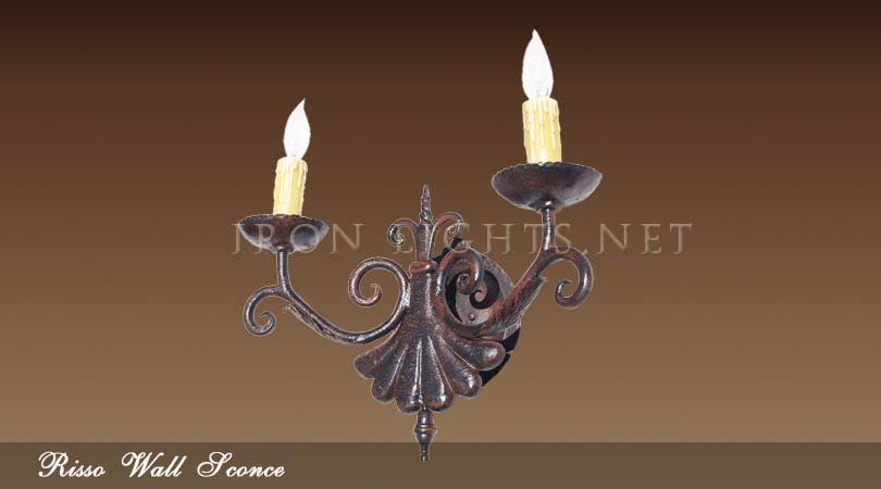Risso iron wall sconce
