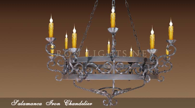 Wrought iron hacienda chandeliers