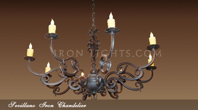 Sevillano Spanish hacienda chandelier