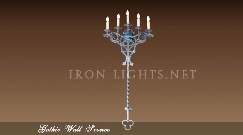 Gothic Medieval wall sconce
