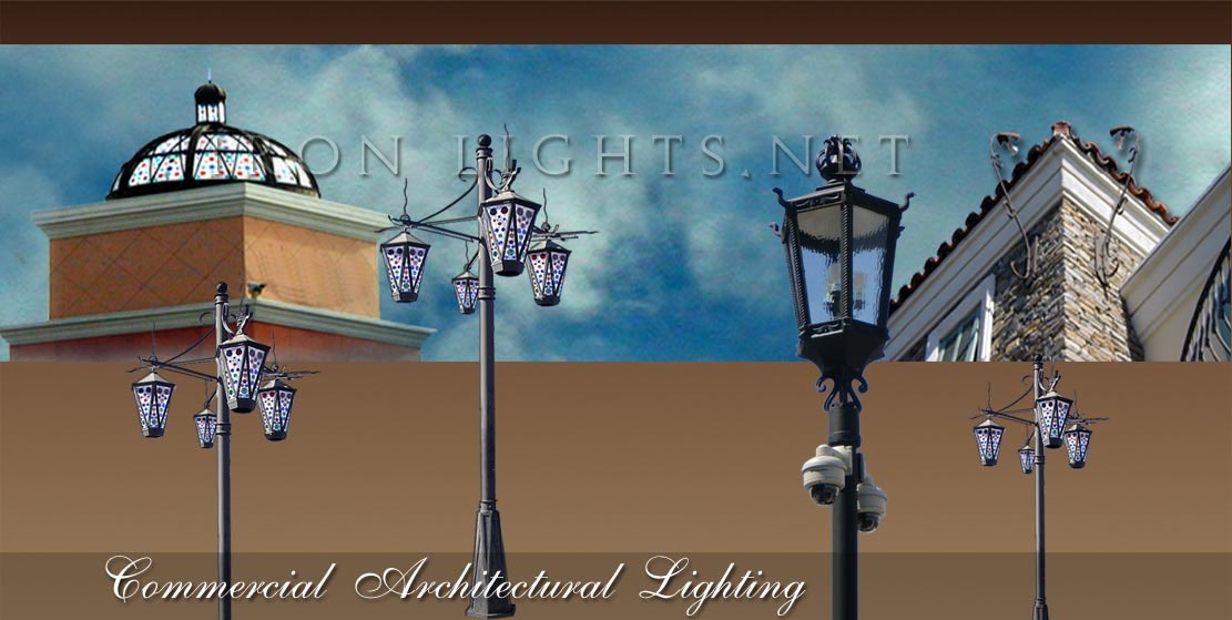 Architectural outdoor post lighting